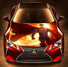 Superman Man Steel Graphics Car Hood Vinyl Wrap Decal Full Color Custom Sticker Ebay