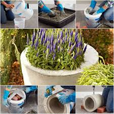 how to diy concrete garden planter