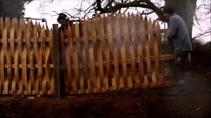 Woven Picket Style Timber Fence Youtube