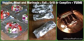 grilled meat and veggie foil packets yum