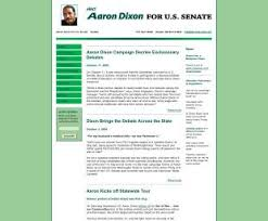 Official Campaign Web Site - Aaron L. Dixon | Library of Congress
