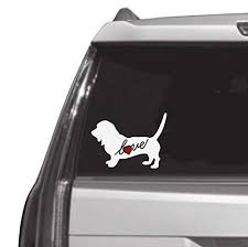 Amazon Com Basset Hound Puppy Dog Love Heart Custom Car Decal Window Sticker Vinyl Free Shipping Handmade
