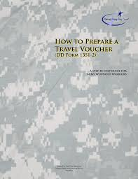 how to prepare a travel voucher dd