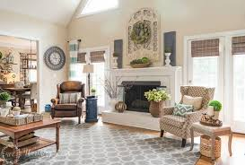 above a fireplace in a two story room