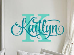 Personalized Wall Decal Girl Name Wall Decal Nursery Wall Etsy In 2020 Monogram Wall Decals Personalized Wall Decals Name Wall Decals