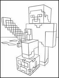 Minecraft Kleurplaat Printen 16