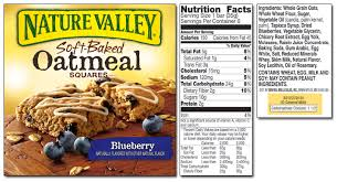 oatmeal squares nutrition label best