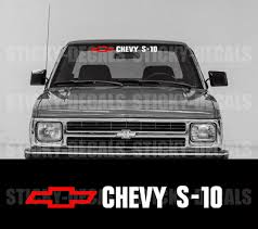 Chevy S10 Red Bowite Windshield Vinyl Decal Sticker Ebay