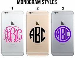 Custom Monogram Decal Sticker For Iphone 5 6 7 8 X Laptop Lg Cell Phone Case Ebay