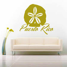 Puerto Rico Sand Dollar Vinyl Decal Sticker Caribbean Decals Stickers