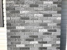 diy painted exterior brick chimney
