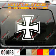 Iron Cross Luftwaffe Wwii German Germany Army Car Decal Bumper Sticker Ebay