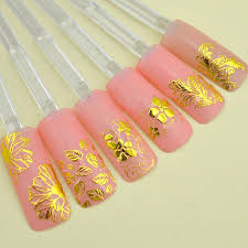 Newest 3d Gold Decal Stickers Nail Art Tip Diy Decoration Stamping Manicure M01198 Diy Makeup And Nails