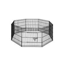 24 8 Panel Pet Dog Playpen Puppy Exercise Cage Enclosure Play Pen Fence Pet Wizard
