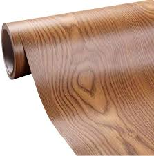 Self Adhesive Wood Grain Furniture Stickers Pvc Wallpaper Cabinets Gloss Film Vinyl Counter Top Decal 15 6 X79 Amazon Com