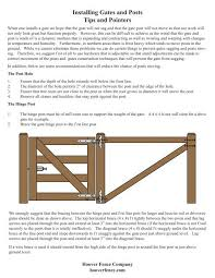 Installing Gates And Posts Tips And Pointers Hoover Fence