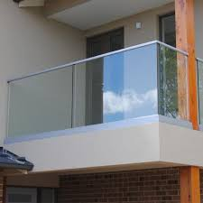 wall bracket tempered glass terrace