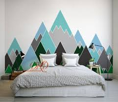 Mountain Wall Decal Mountain Decal Mountain Wall Art Etsy