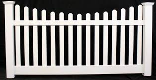 Classic Scallop Picket Vinyl Fence Panel Buyvinylfence Com