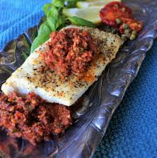 Grilled Halibut with Sun-Dried Tomato ...