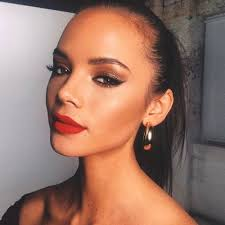 red lips prom makeup ideas ecemella