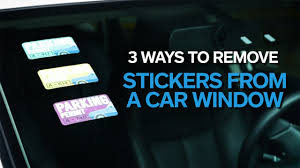 How To Remove A Sticker From A Car Windshield Allstate