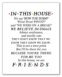 com friends quotes tv poster x unframed family