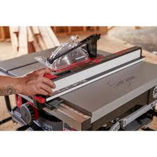 Sawstop 15 Amp 120 Volt 60 Hz Jobsite Saw Pro With Mobile Cart Assembly Jss 120a60 The Home Depot