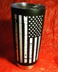Cup I Made For My Best Friend So Happy With How It Turned Out American Flag Vinyl Decal Coffee Tumbler Yeti Cup Designs Tumbler Cups Diy Diy Cups