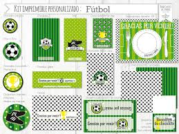 Kit Imprimible Personalizado Candy Bar Futbol Completo