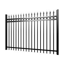 China Black Galvanized Decorative Wrought Iron Fence Garden Tubular Iron Fence China Railing Cast Iron Fence