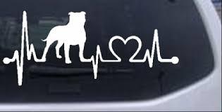 Pit Bull Uncropped Floppy Pitbull Heartbeat Lifeline Monitor Car Or Truck Window Decal Sticker Rad Dezigns