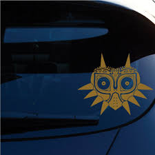 Zelda Majoras Mask Skin Decal Sticker For Car Window Laptop Motorcycle Walls Mirror And More Sku 552 Metallic Gold Car Stickers Aliexpress