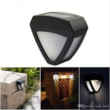 2020 Solar Lights Outdoor Lighting Triangle Wall Lamps Light Controlled 2led Waterproof Garden Street Fencing Lights Ip55 Modern From Light Lead 4 08 Dhgate Com