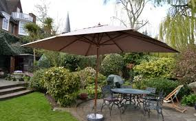 si plus rectangle wooden parasol