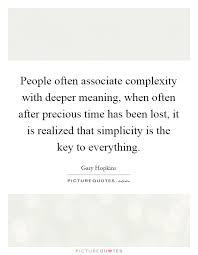 people often associate complexity deeper meaning when