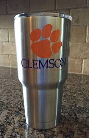 Clemson Fighting Tigers You Can Order Any Size Yeti With A Clemson Decal Also At No Additional Cost You Can Tiger Paw Print Cup Decal Decals For Yeti Cups