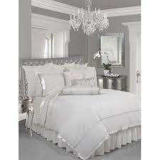 silver white bedroom throwing out