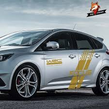Auto Racing Sports Styling Vinyl Film Decal Car Both Side Body Sticker Stylish For Ford Focus 2 3 Mk2 Mk3 Car Tuning Accessories Wish