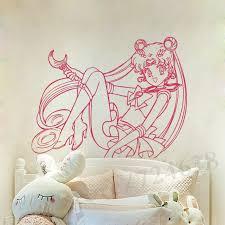 Sailor Moon Wall Mural Vinyl Decal Sticker Decor Cartoon