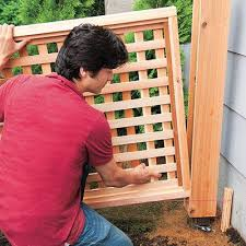 How To Build A Wood Lattice Fence This Old House