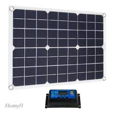 50w Flexible Solar Panel 10a 12v 24v Battery Charger Controller For Car Boat Shopee Philippines