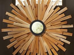 diy sunburst mirror wreath