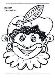 Masker Van Zwarte Piet Kleurplaat Knutselen Sinterklaas