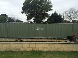 After Colorbond Metal Fence After Artificial Ivy Hedge Panels Were Installed Designer Plants