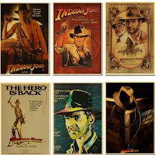 Indiana Jones Decorative Painting Wall Decor Bar Poster Kraft Paper Retro Poster Wall Stickers Aliexpress