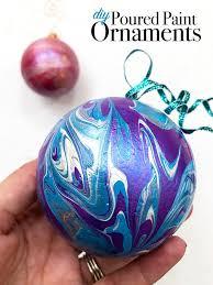 diy poured paint ornaments 100 directions