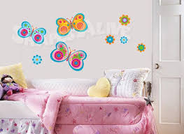 These 3 Colorful Butterflies Are Inspired By The Work Of Lisa Frank And Her Style These Are Not Lisa Frank Art Girl Room Butterfly Wall Decals Girls Bedroom
