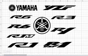 Yamaha Logo Vinyl Decal R6 R1 R1m Yzf R3 Yzf Etsy