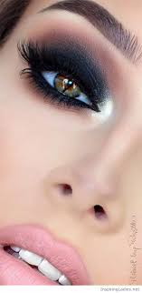 awesome black eye makeup and pink lips